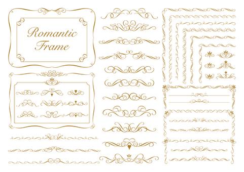 Romantic frame_Sepia