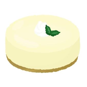Creamed whole rare cheese cake