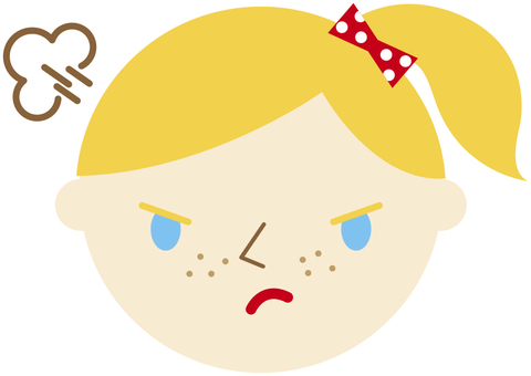 Angry foreign girl