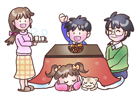 A party with a kotatsu