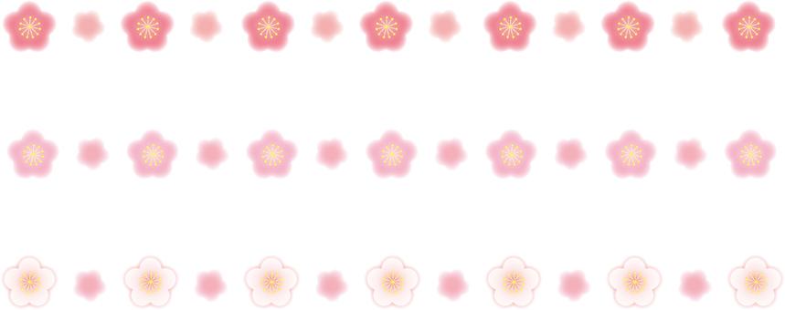 Plum flower line material