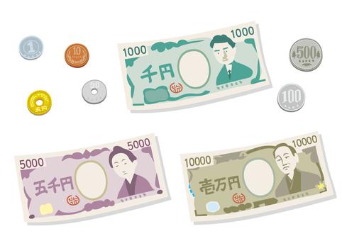 Money Ten 1 ten thousand yen 5 thousand yen Thousand yen