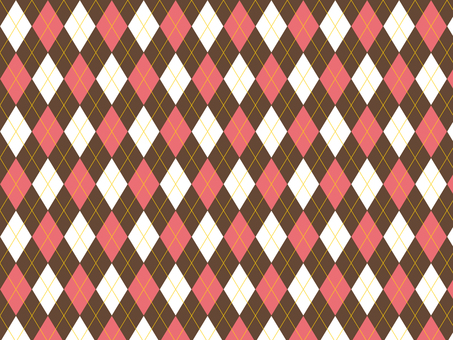 Argyle ● Brown × Pink