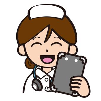 Nurse to check the file