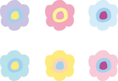 Pop flower illustration