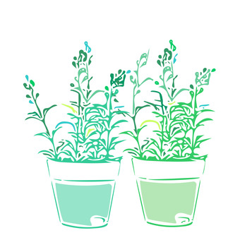 Houseplant, single color, green, artificial flower, flower, flowerpot