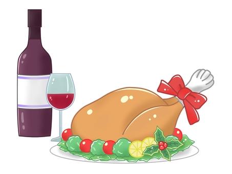 Turkey and red wine