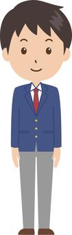 Men | High School Student | Uniform | Standing