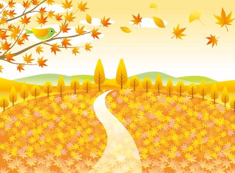 紅葉の絨毯の風景その2