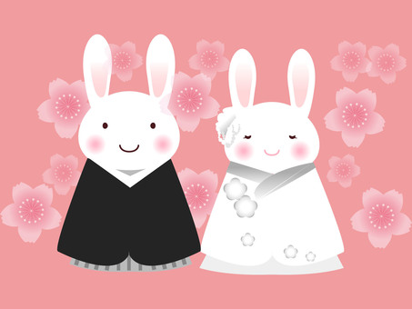 Rabbit wedding (Japanese dress)