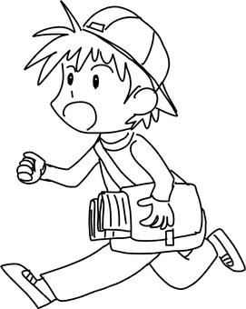 Working boy (line drawing)