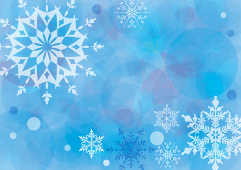 Snow crystal _ Blue _ Pastel background 1505