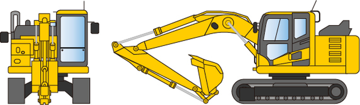 Construction Equipment Hydraulic Excavator Illustration