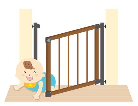 新鮮的嬰兒門和嬰兒