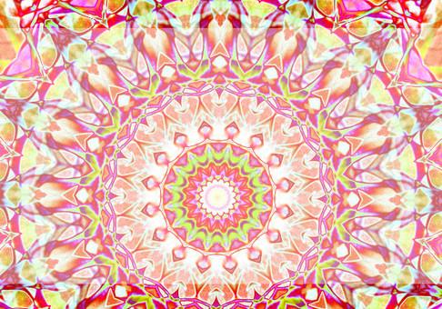 Frame kaleidoscope glittering