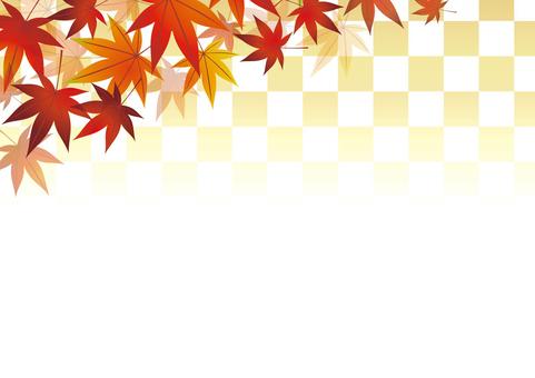 Autumn leaves frame 07