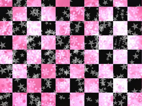 Pink and black pretty lattice pattern