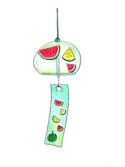 Glass wind chime 02