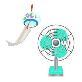 Wind chimes and electric fans