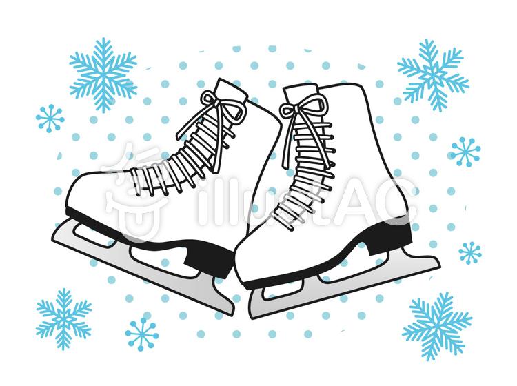 スケート靴. スケート靴のイラスト