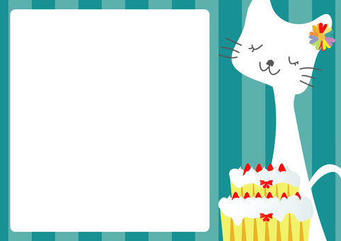 Cat letter and cake