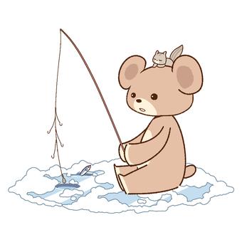 Bear and smelt fishing