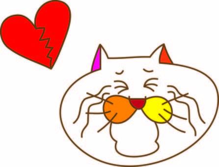 Funny cat Tamako's broken heart