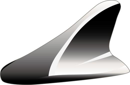 Shark antenna black