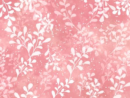 Leaf background material / pink