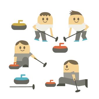Men who curling