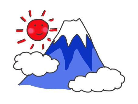Mount Fuji (sunny face)