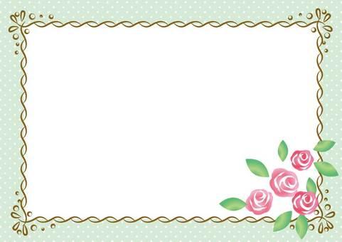 Girly Material 011 Rose frame