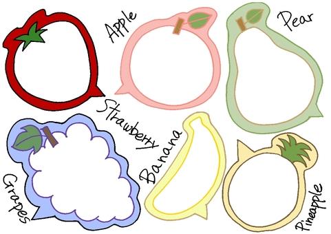 Fruit type balloon ①