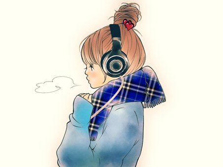 Headphone girls: Retro