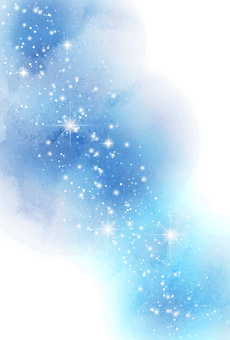 水彩風格星空明信片垂直