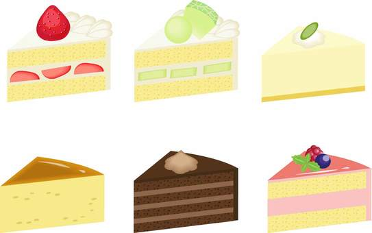 Cake illustration set