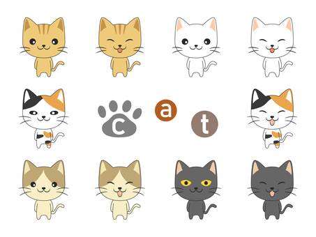 Animal cat set