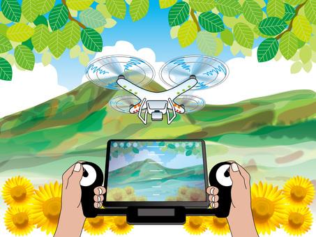 向日葵和山脈(2)無人機機動