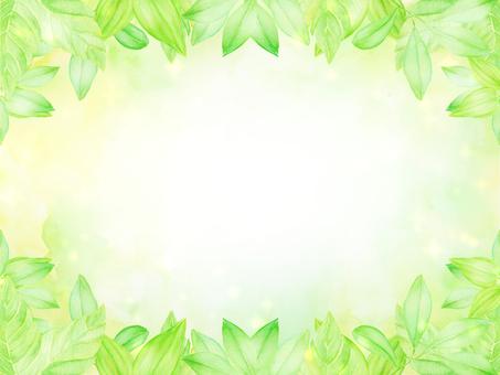 Watercolor leaf frame