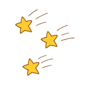 Many shooting stars
