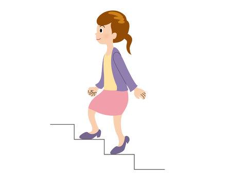 人物/女性/階段
