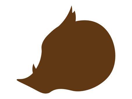 Wild boar silhouette