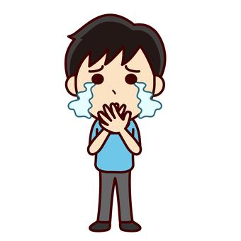 울고있는 소년