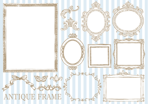 Antique frame hand drawn
