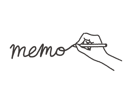 Hand and letter memo
