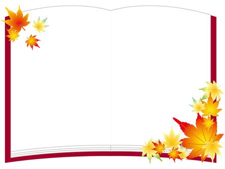 Autumn book frame