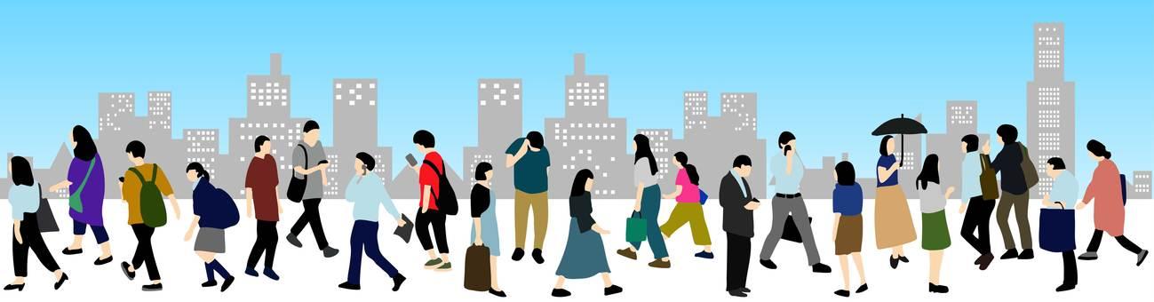 거리를 걷는 사람들