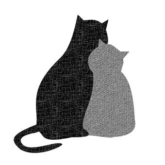단짝 고양이 모노톤