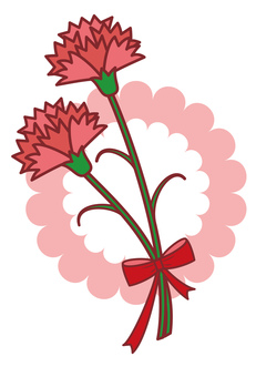 Carnation, mother's day, with background