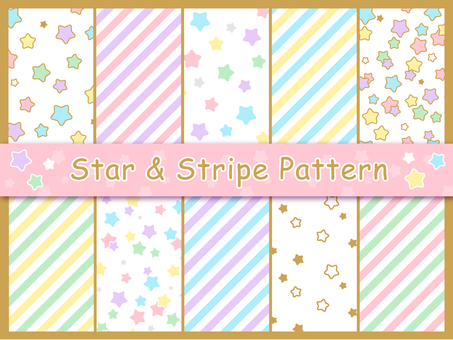 Stars & striped pattern collection